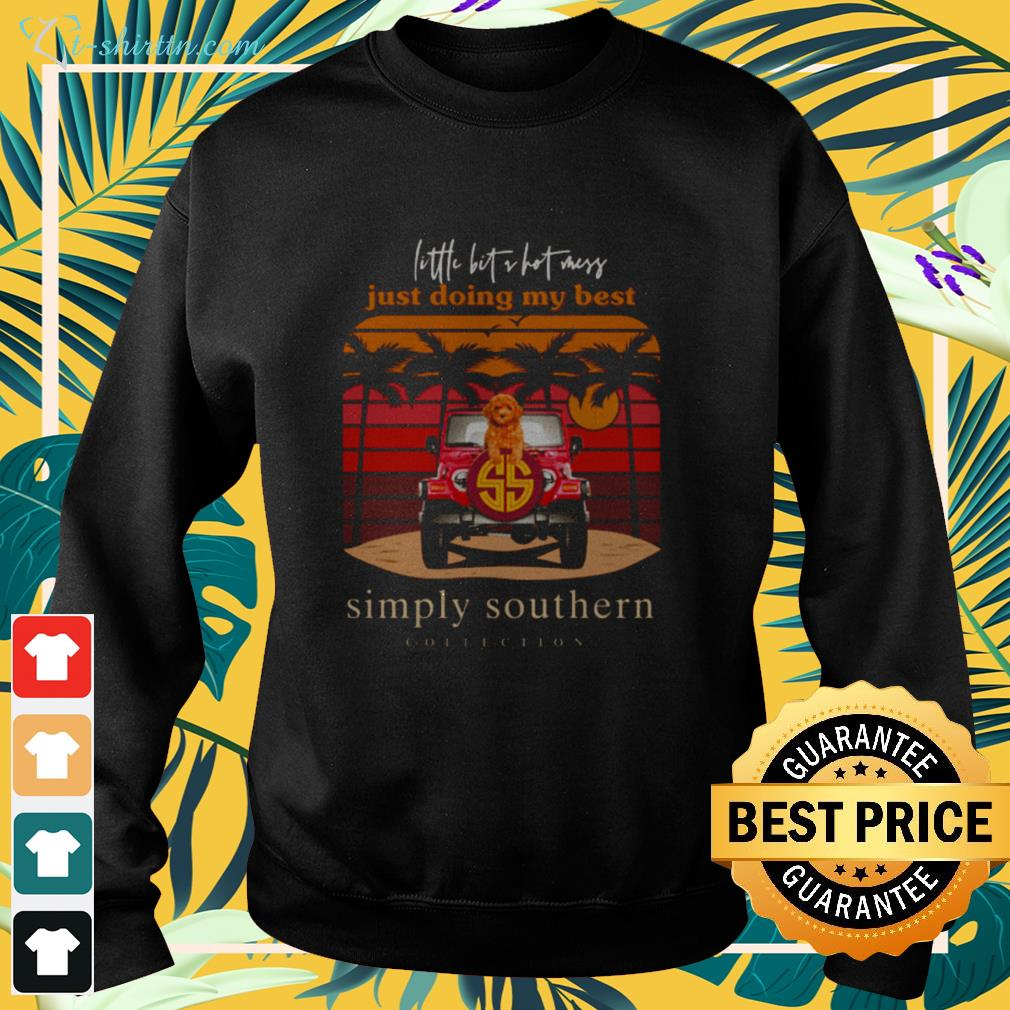 Dog little bit a hot mess just doing my best simply southern collection sweater