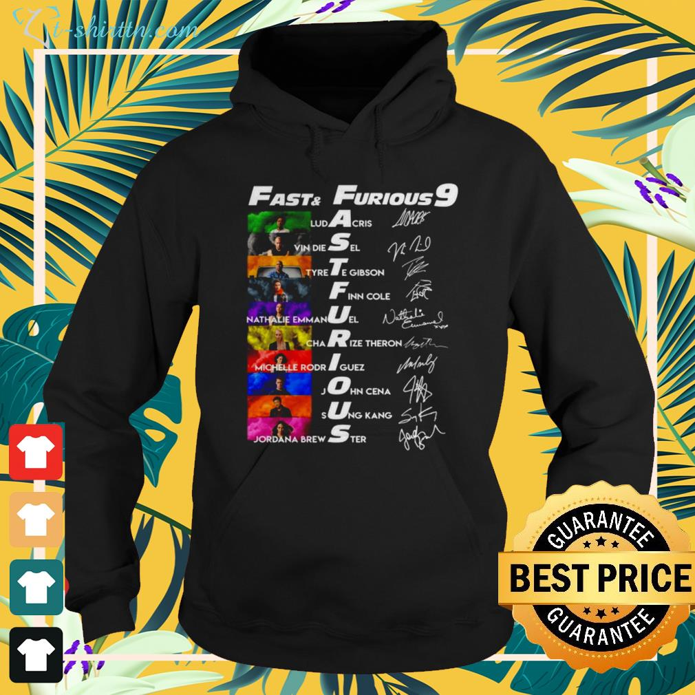 Fast and Furious 9 characters name signatures hoodie