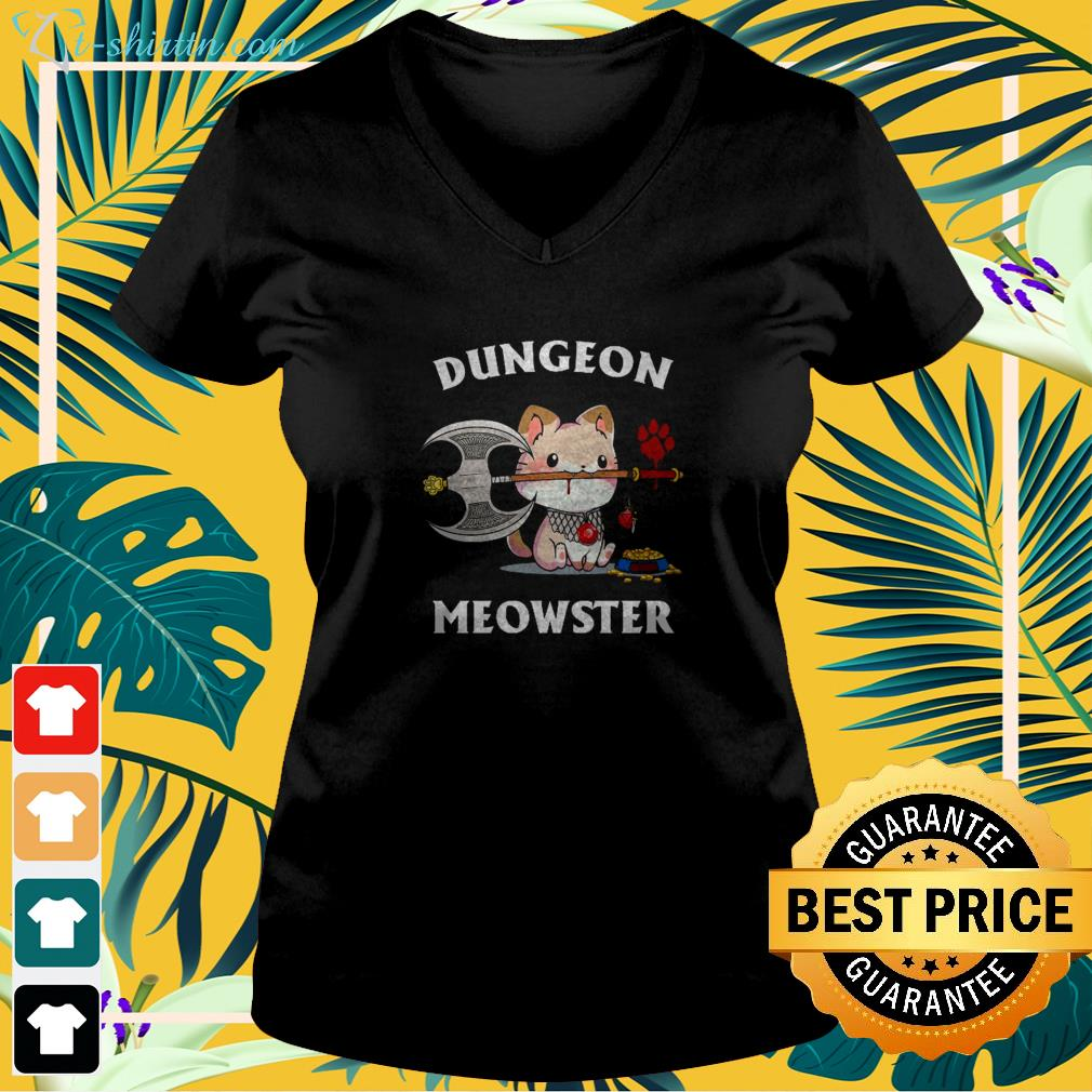 dungeon-meowster-cat-lovers-v-neck-t-shirt Dungeon meowster cat lovers shirt