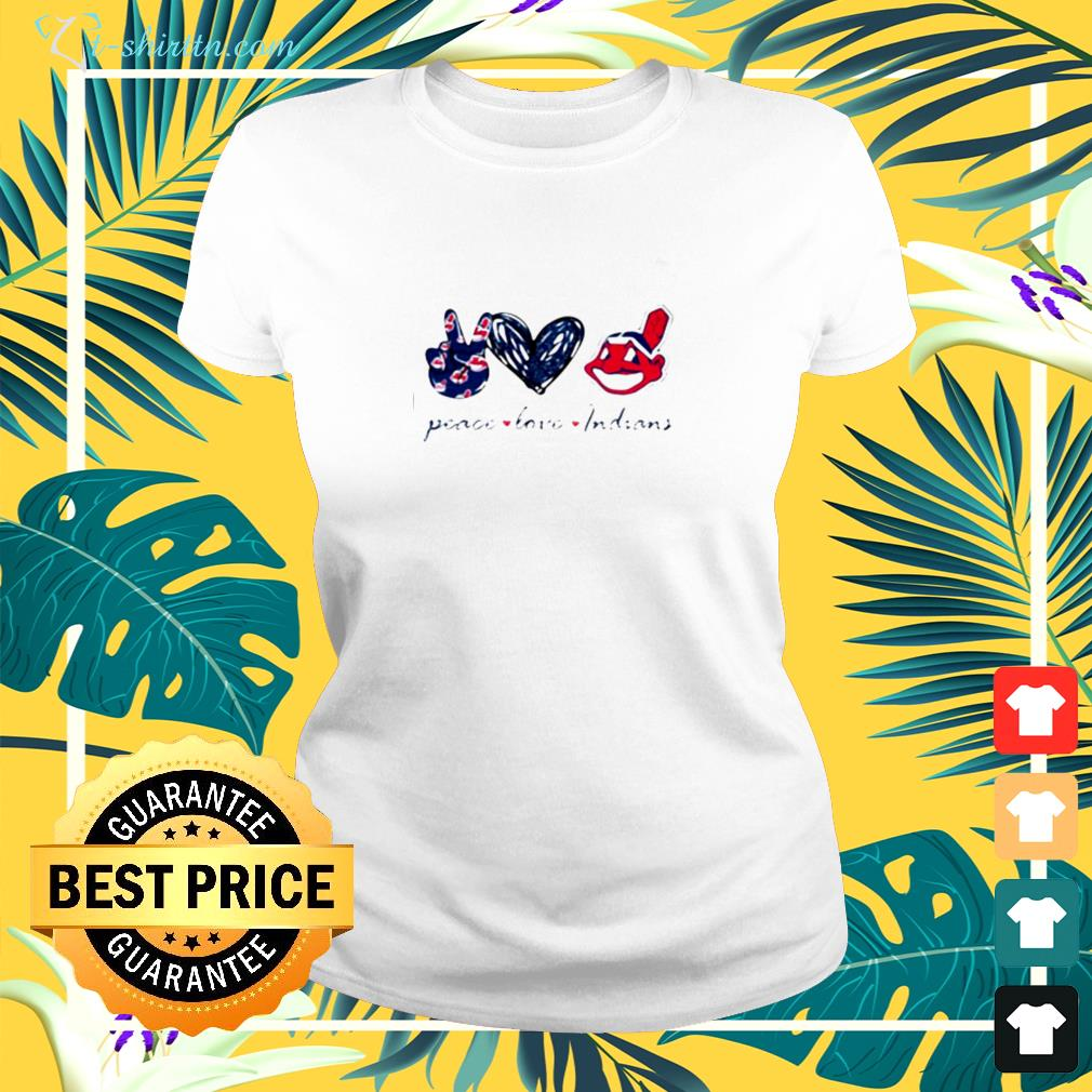 Peace love Cleveland Indians ladies-tee