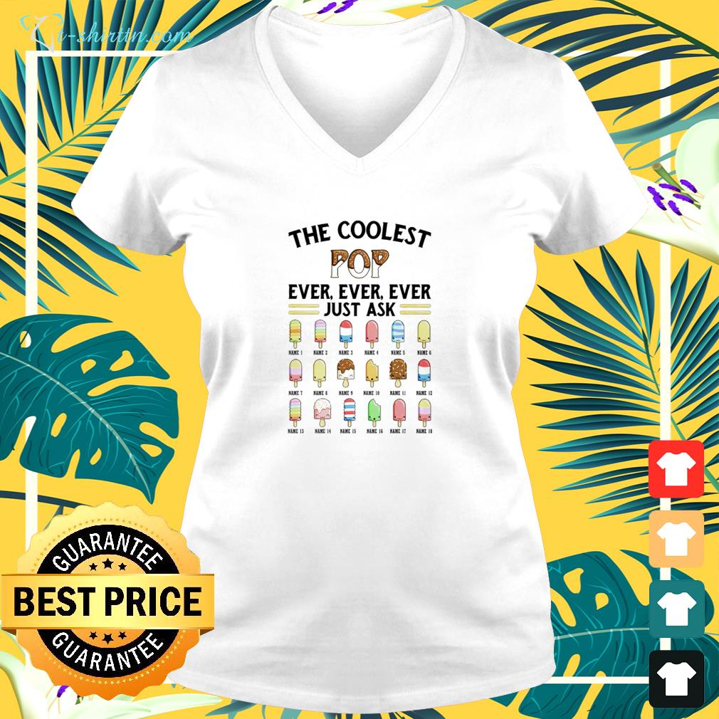 The coolest pop ever, ever, ever just ask icecream v-neck t-shirt
