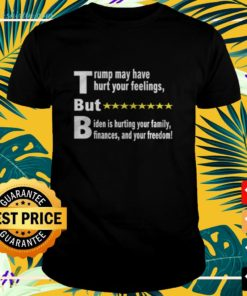 Trump may have hurt your feelings but Biden is hurting your family finances and your freedom ladies-teeTrump may have hurt your feelings but Biden is hurting your family finances and your freedom t-shirt