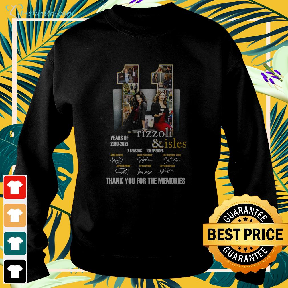 11 years of Rizzoli and Isles 2010 2021 thank you for the memories sweater