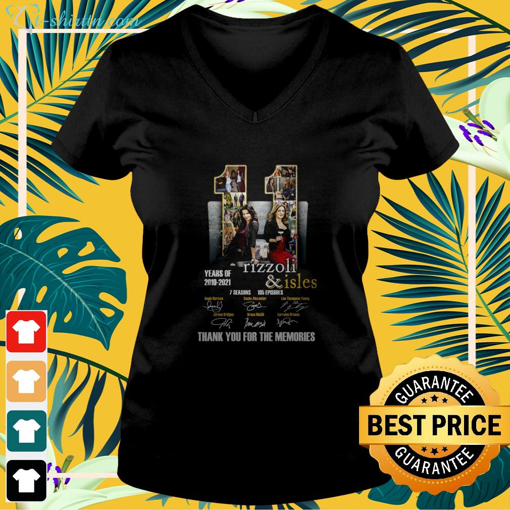 11 years of Rizzoli and Isles 2010 2021 thank you for the memories v-neck t-shirt