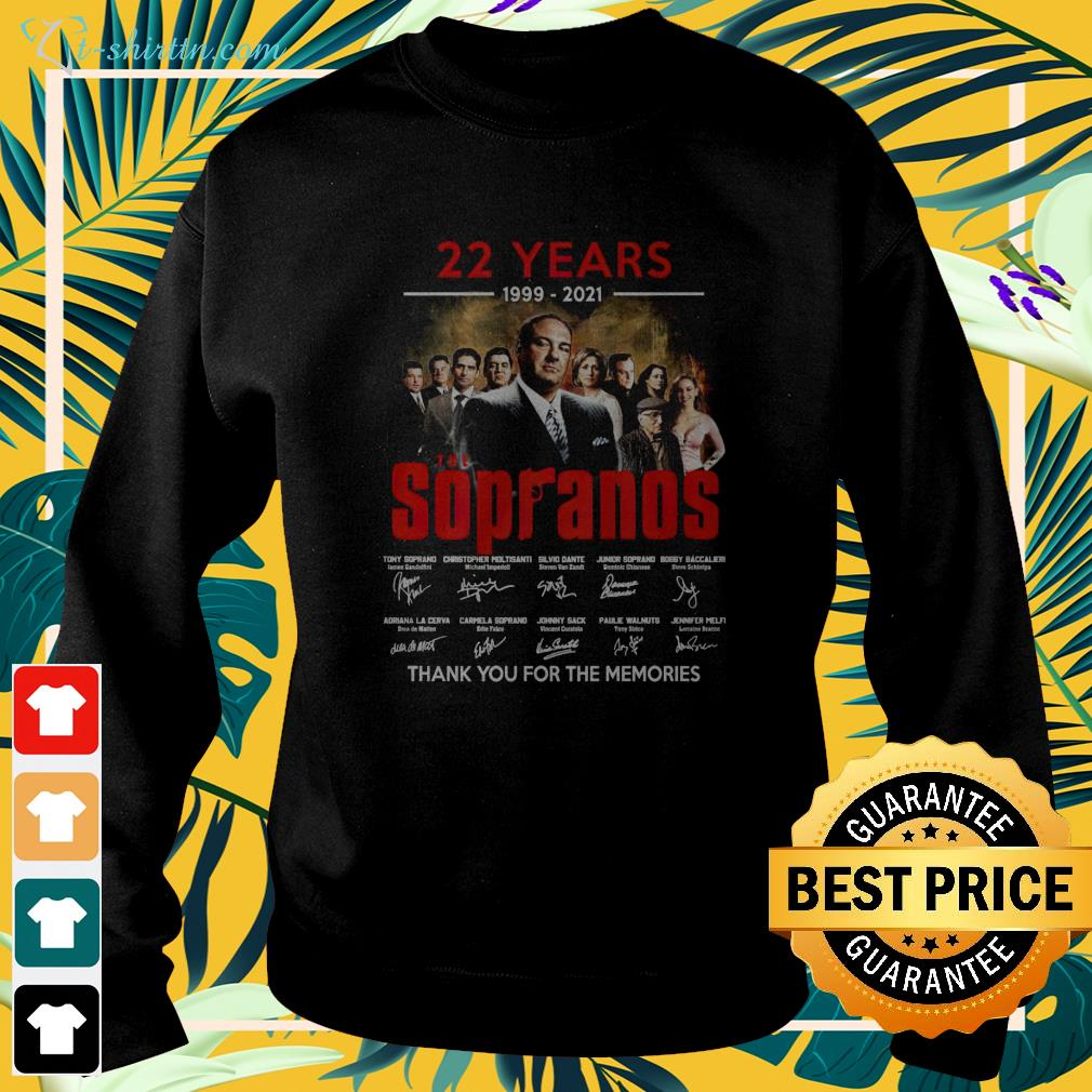 22 years 1999 2021 The Sopranos thank you for the memories sweater