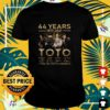 44 years 1977 2021 Toto thank you for the memories t-shirt