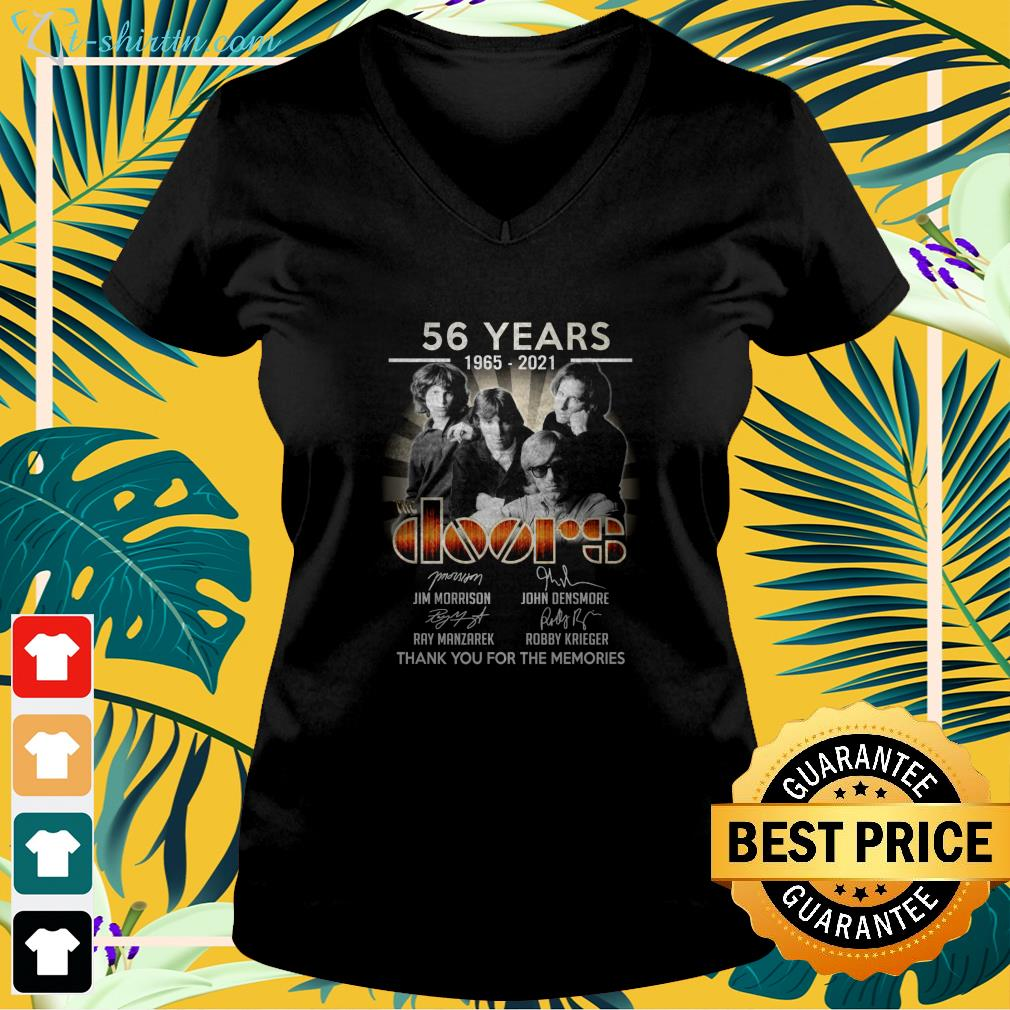 56 years 1965 2021 The Doors thank you for the memories v-neck t-shirt