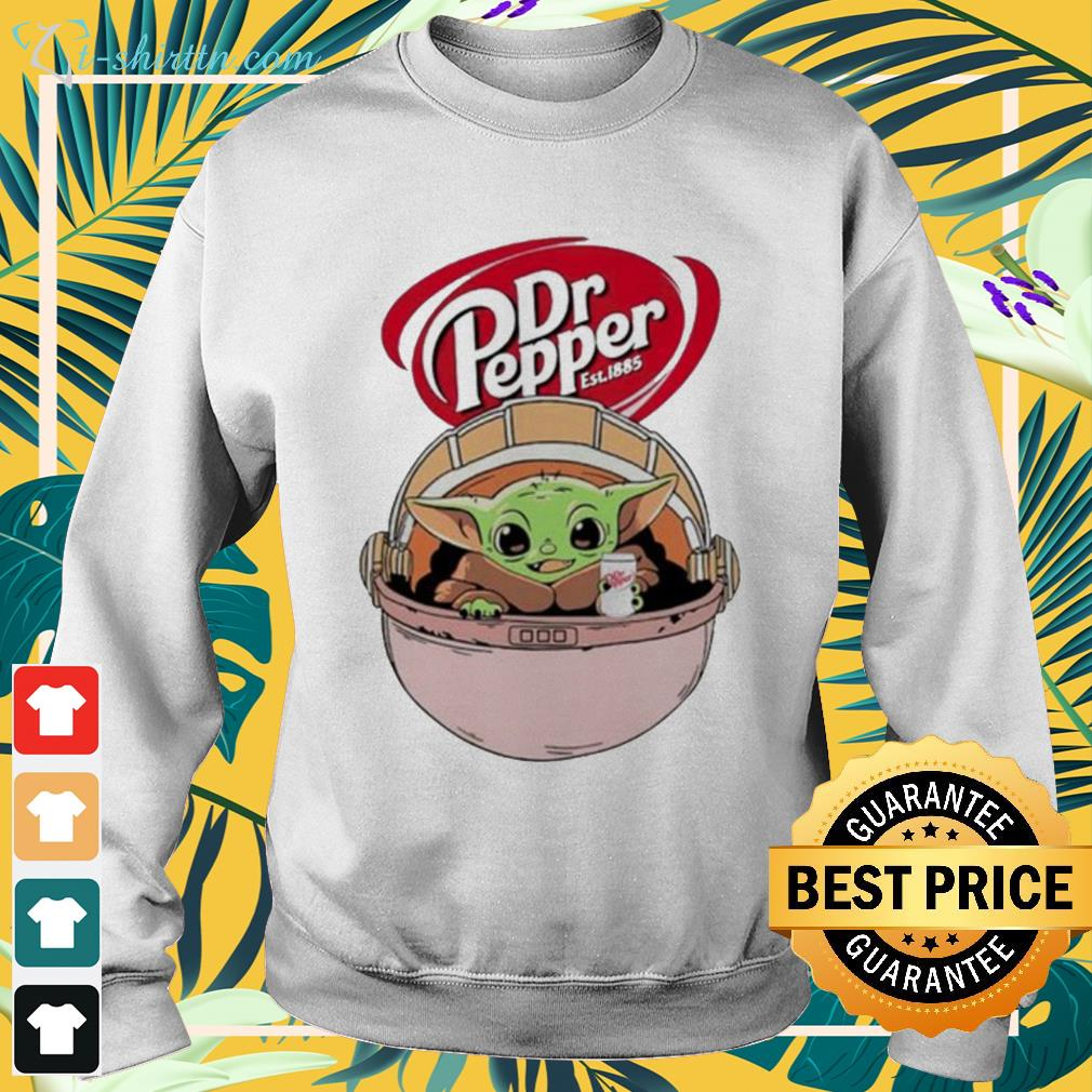 Baby Yoda drink Dr Pepper sweater