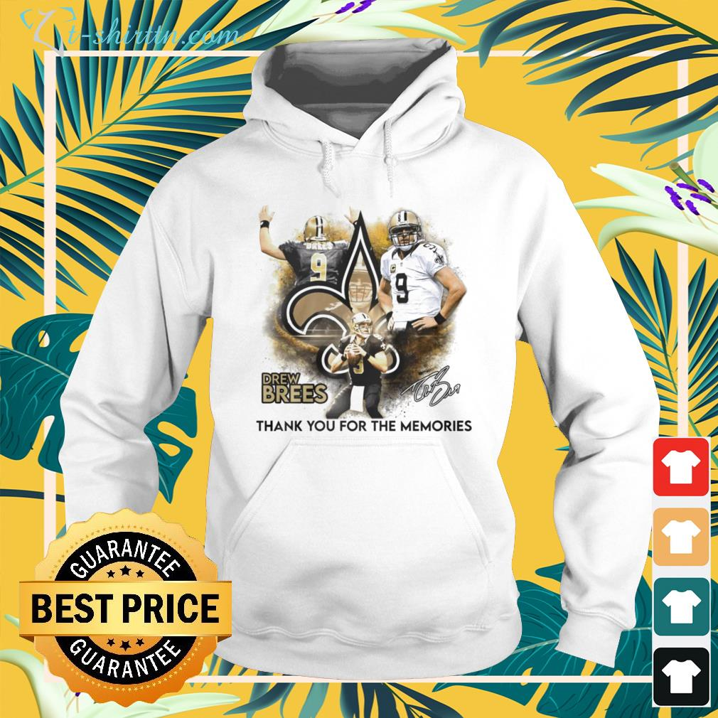 Drew Brees New Orleans Saints thank you for the memories signature hoodie