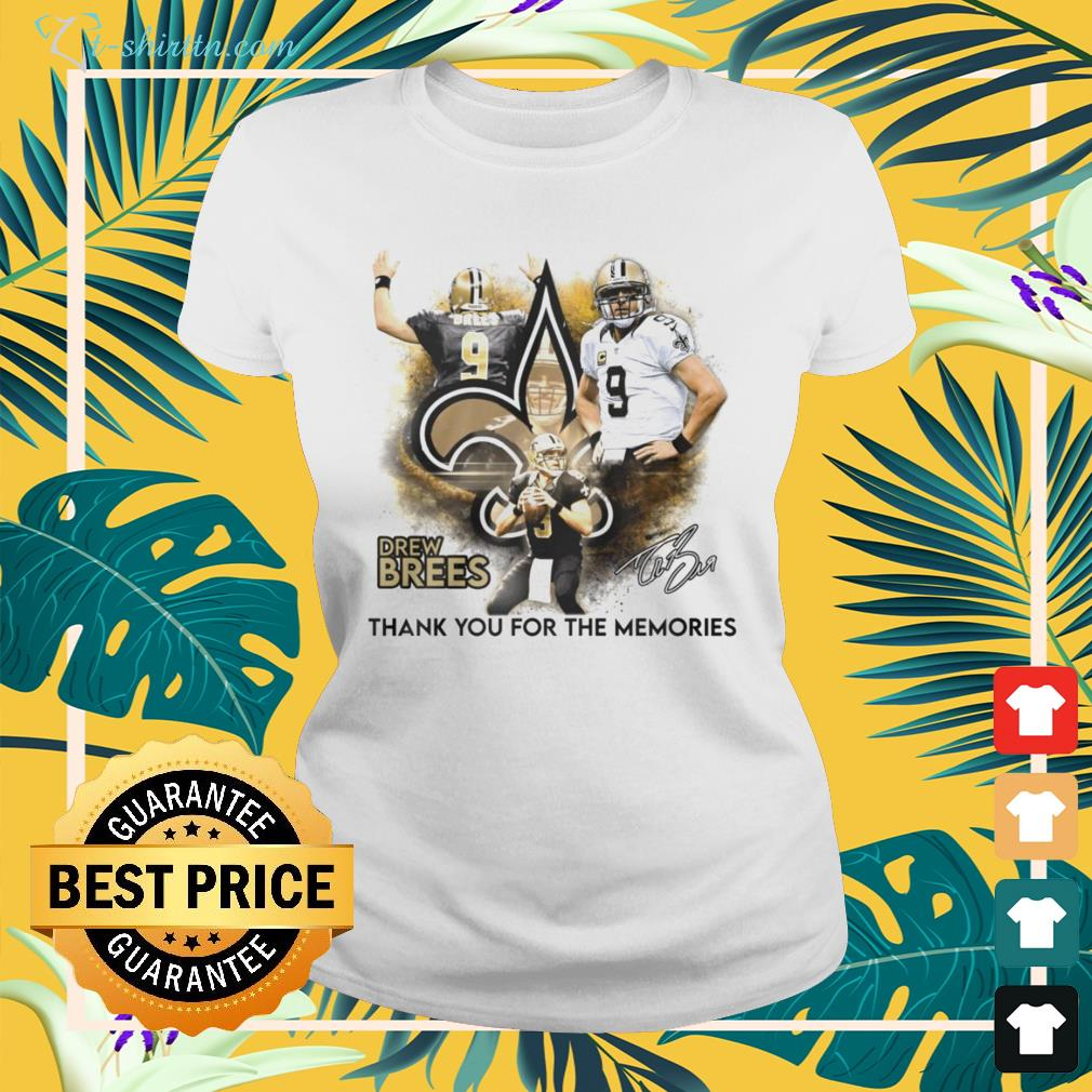 Drew Brees New Orleans Saints thank you for the memories signature ladies-tee