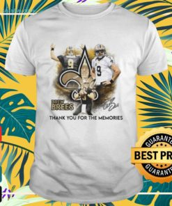 Drew Brees New Orleans Saints thank you for the memories signature shirt