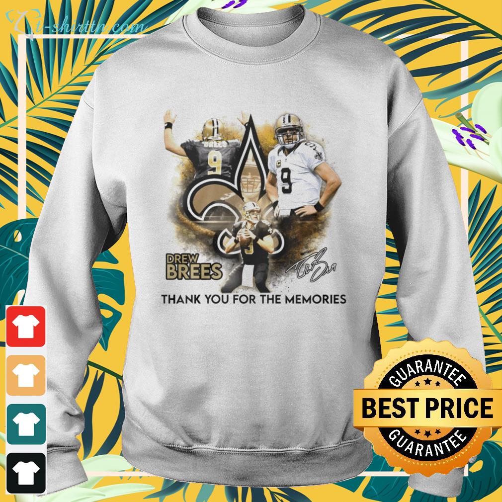 Drew Brees New Orleans Saints thank you for the memories signature sweater