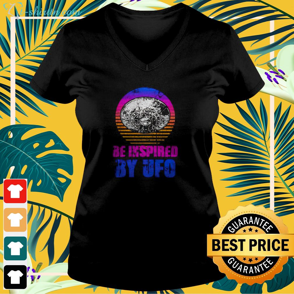 Be inspired by UFO vintage v-neck t-shirt