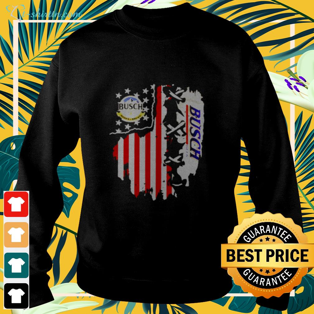 Busch Banks And Brews Beer American Flag 4th Of July sweater
