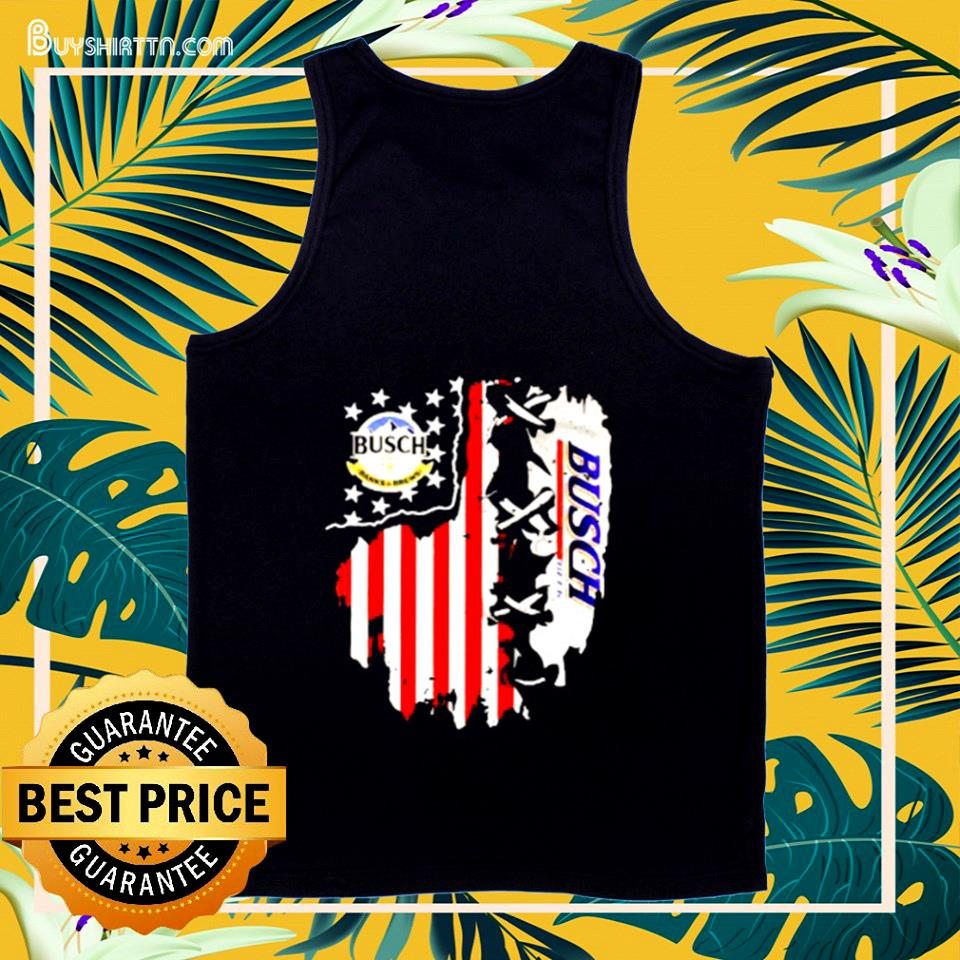Busch Banks And Brews Beer American Flag 4th Of July tank top