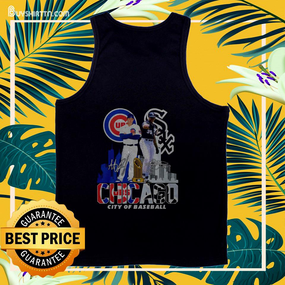 chicago cubs white sox city of baseball signature tank top