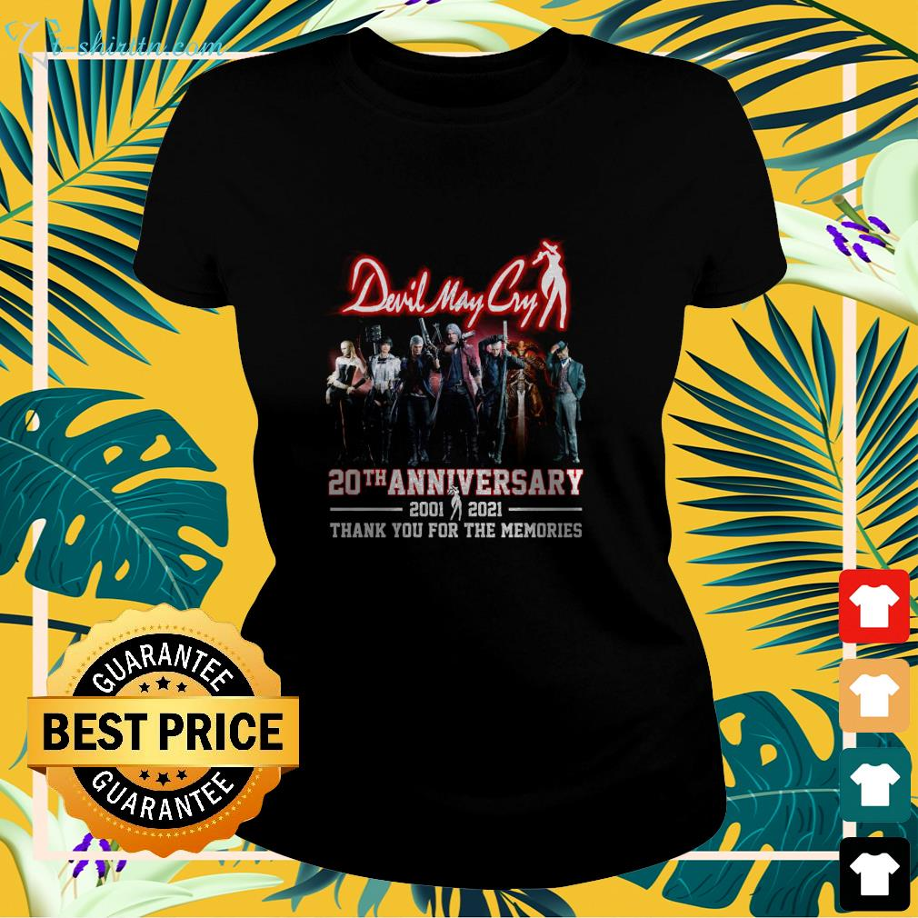 Devil May Cry 20th anniversary 2001 2021 thank you for the memories ladies-tee
