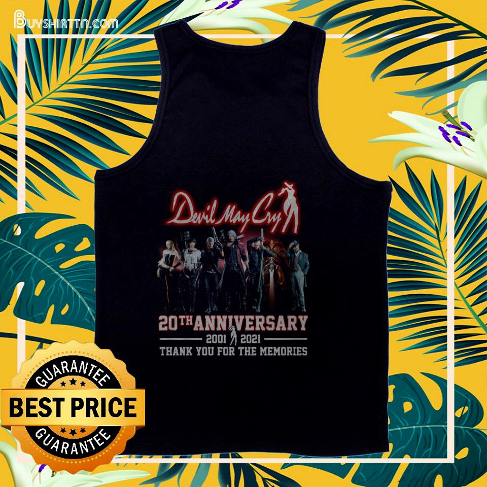 Devil May Cry 20th anniversary 2001 2021 thank you for the memories tank top