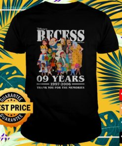 Disney's Recess 09 years 1997 2006 thank you for the memories t-shirt