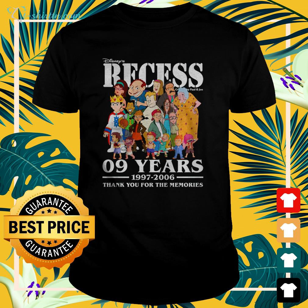 disneys-recess-09-years-1997-2006-thank-you-for-the-memories-t-shirt The best shop for printing t-shirts for men and women