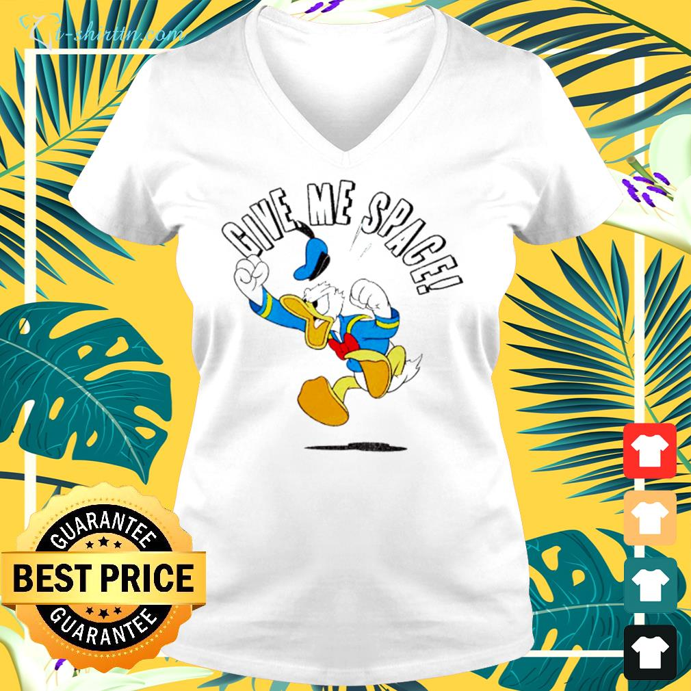 Donald Duck Give me space  v-neck t-shirt