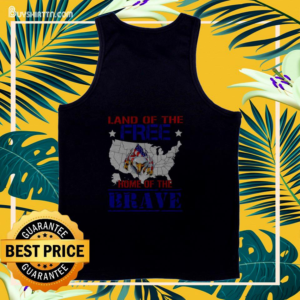 Eagle land of the free home of the brave 4th Of July tank top