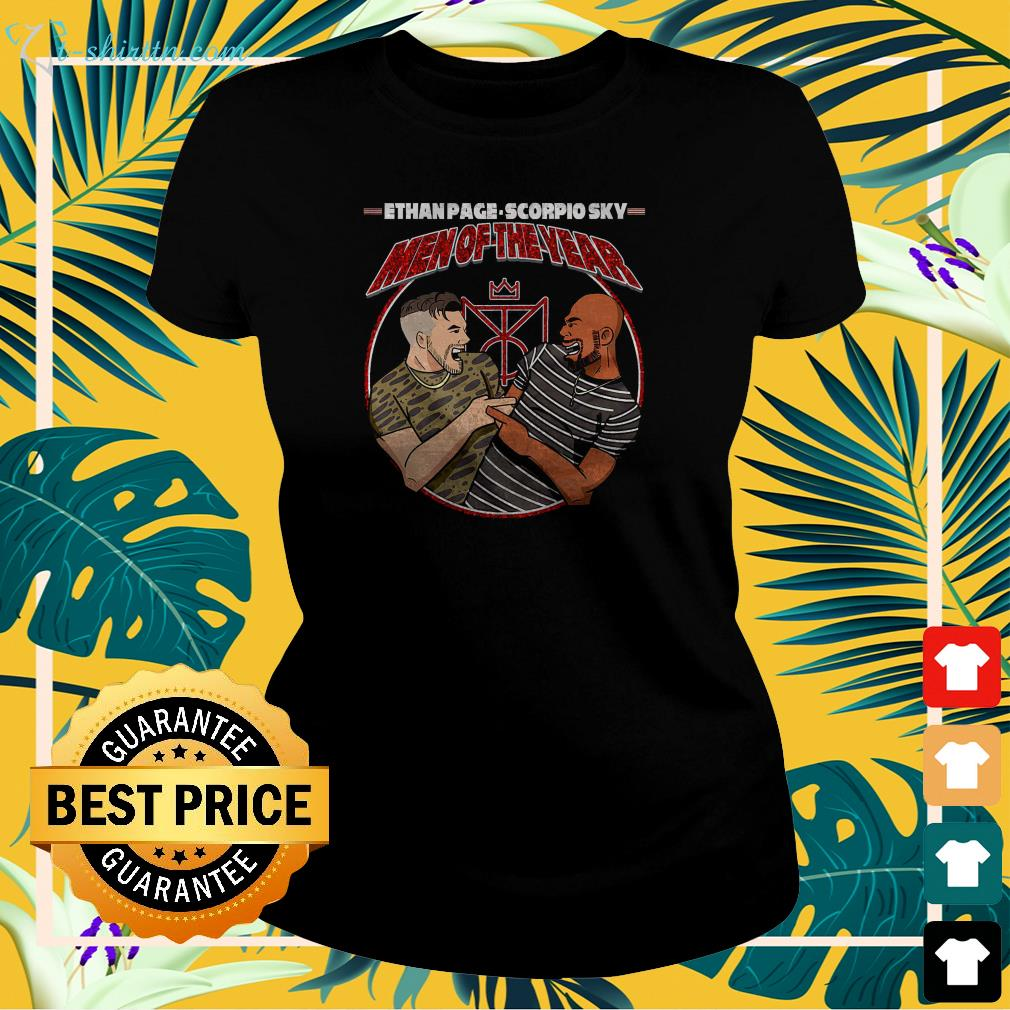 Ethan Page and Scorpio Sky men of the year ladies-tee