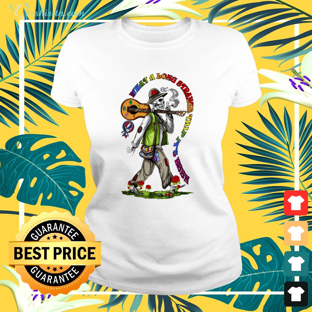 grateful dead what a long strange trip its been ladies tee