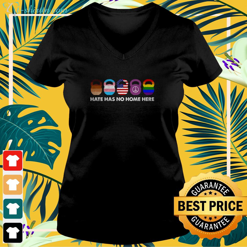 Hate has no home here v-neck t-shirt