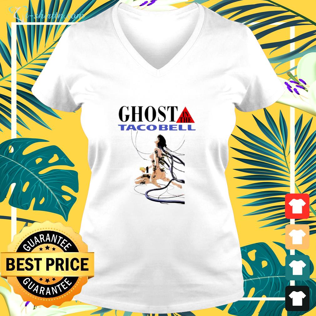 hot ghost in the tacobell v neck t shirt