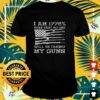 I am 1776 sure that no one will be taking my guns USA flag t-shirt