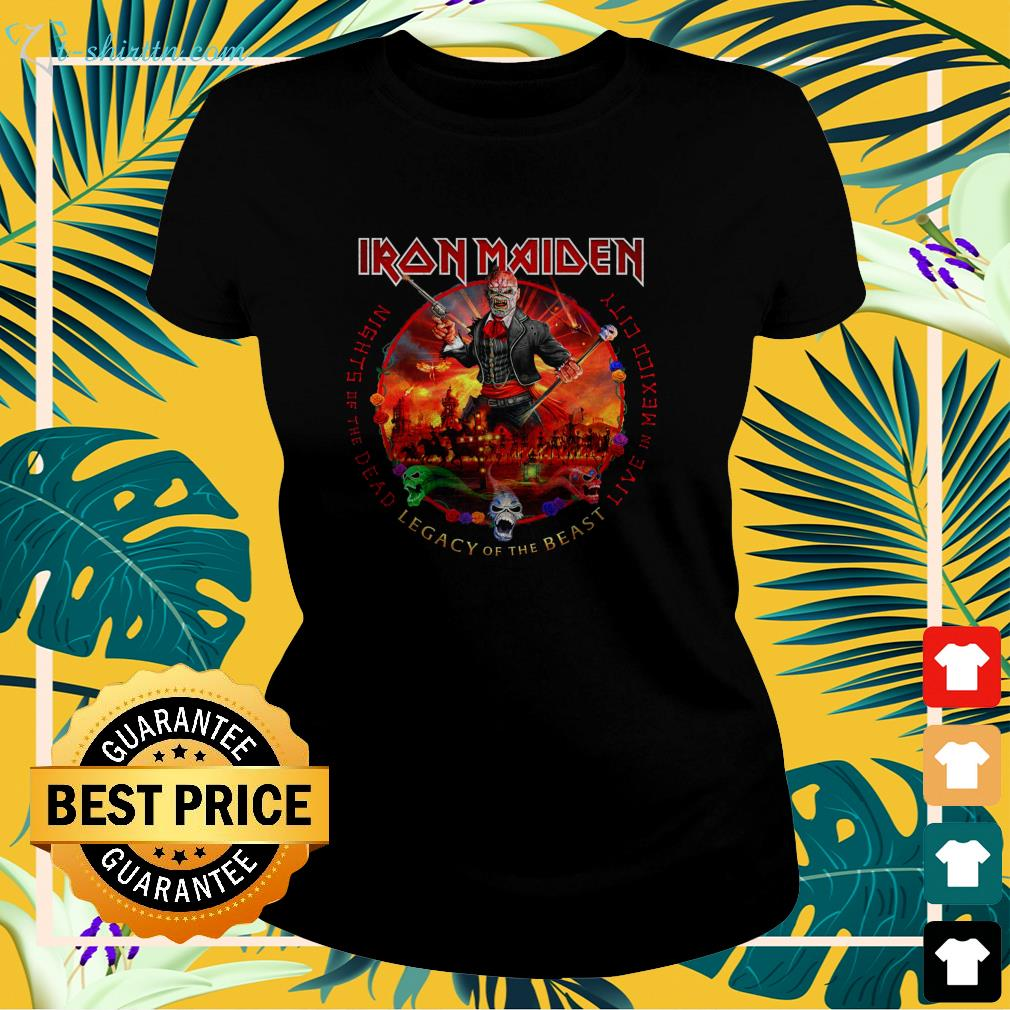 Iron Maiden nights of the dead legacy of the beast live in mexico city ladies-tee