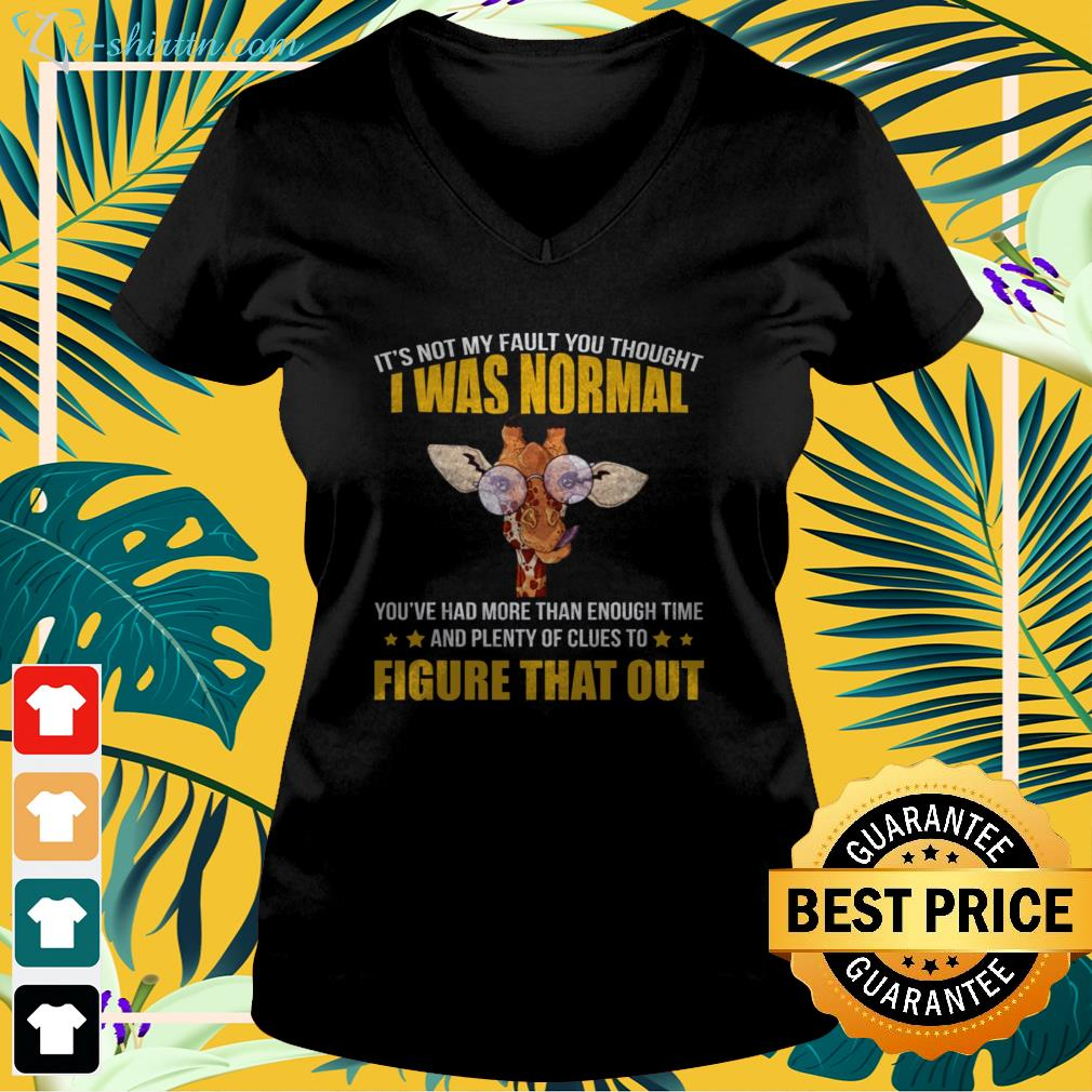 It's not my fault you thought I was normal v-neck t-shirt