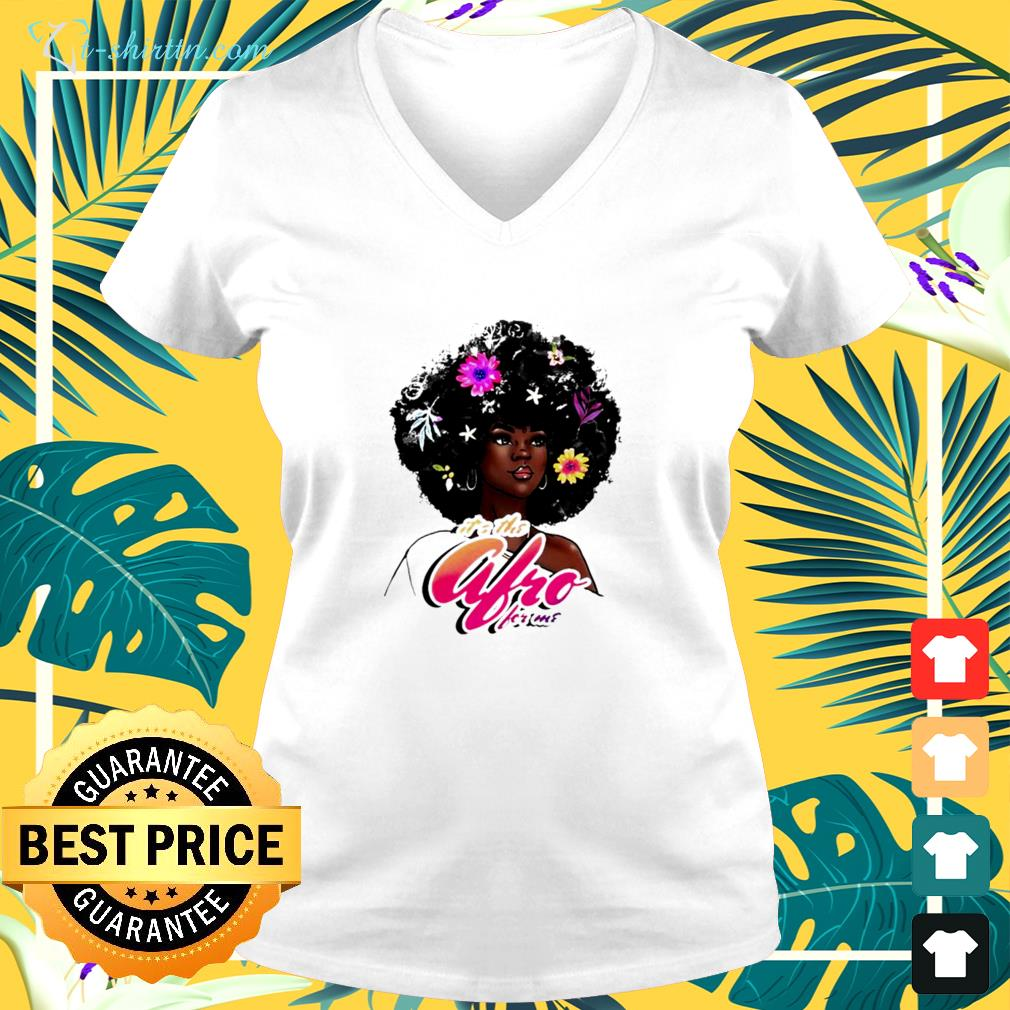 It's the afro for me v-neck t-shirt