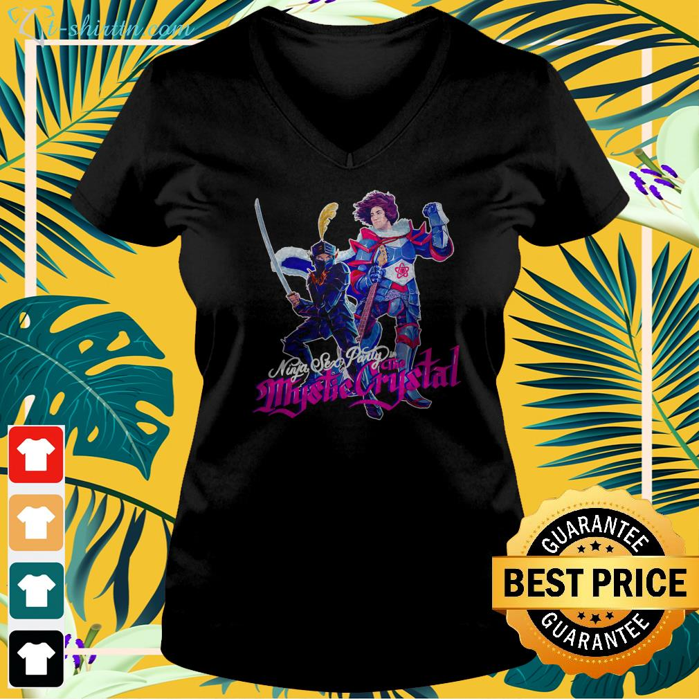 Ninja sex party in the Mystic Crystal v-neck t-shirt