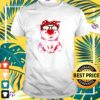 Pig wearing red bandana and leopard glasses t-shirt