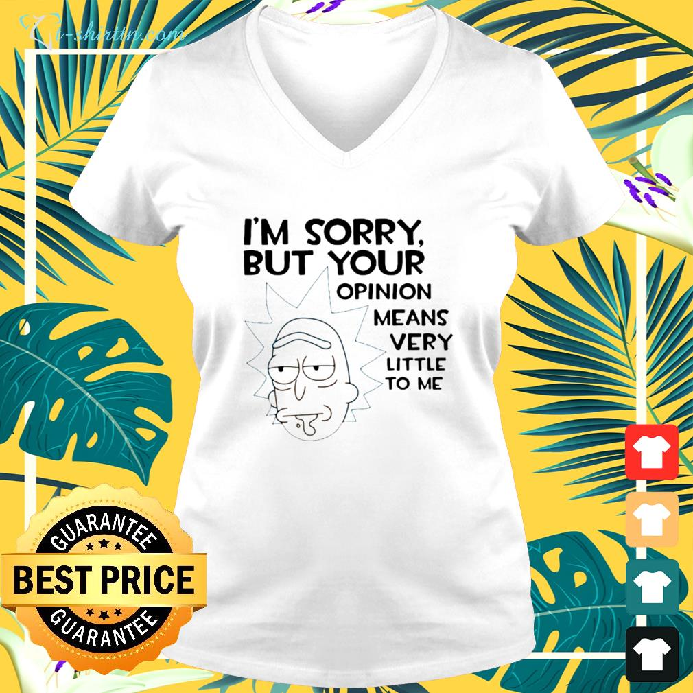 Rick Im sorry but your opinion means very little to me v-neck t-shirt