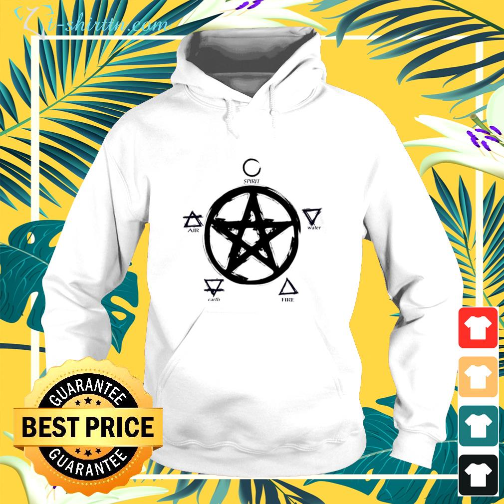 Witch pentacle spirit water fire earth air hoodie