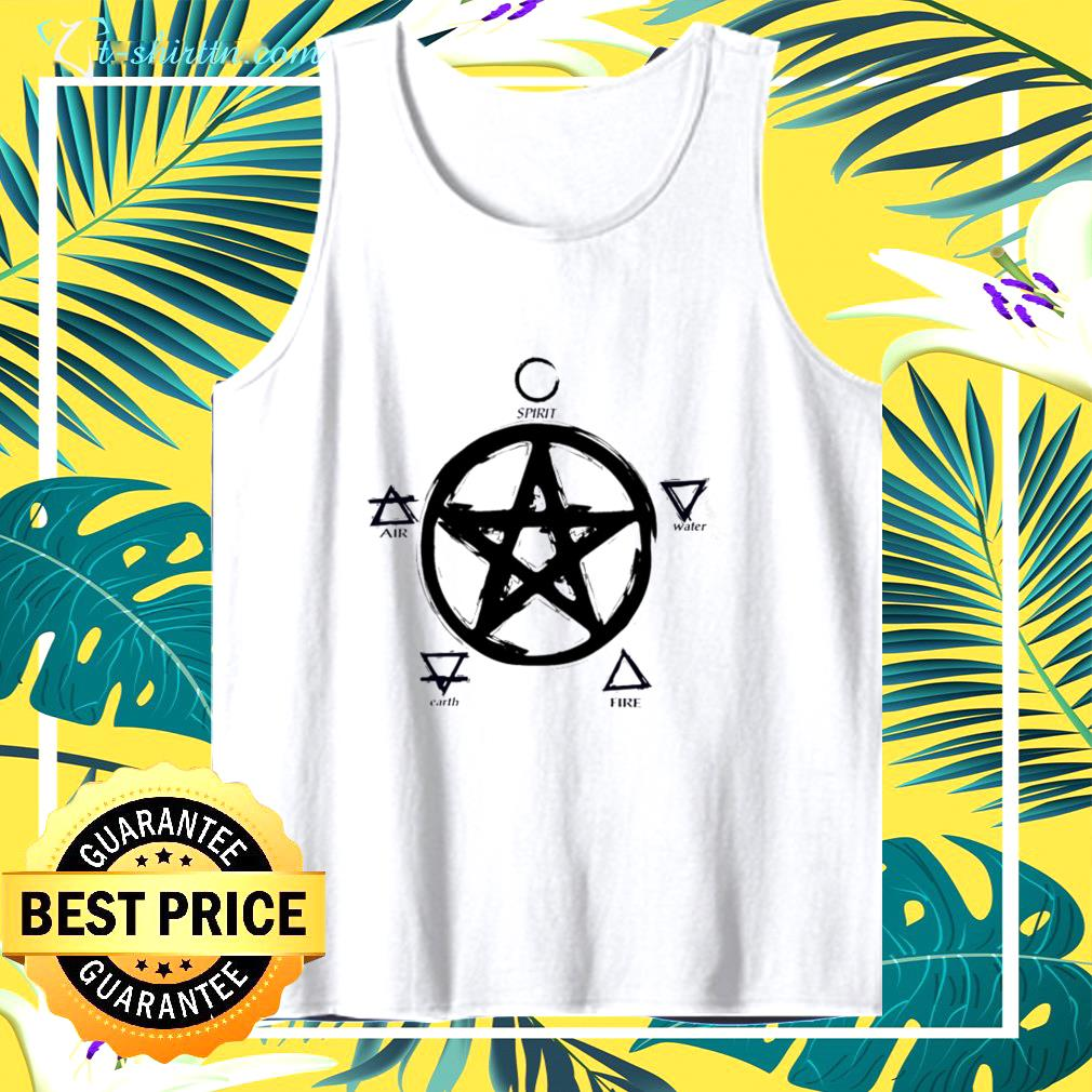 Witch pentacle spirit water fire earth air tank top