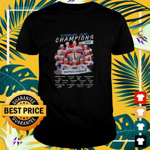 2021 Stanley Cup Champions Montreal Canadiens signature shirt