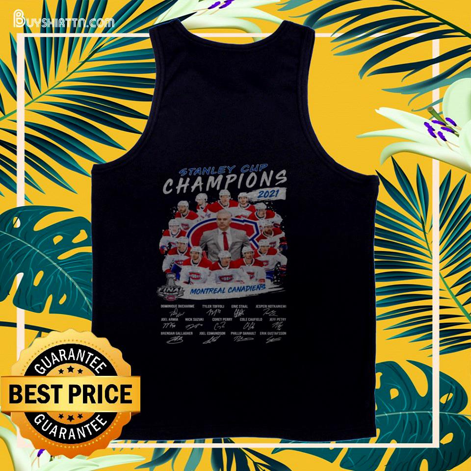 2021 Stanley Cup Champions Montreal Canadiens signature tank top