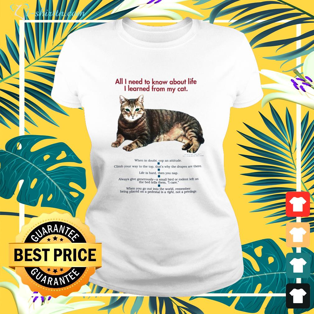 All I need to know about life I learned from my cat ladies-tee