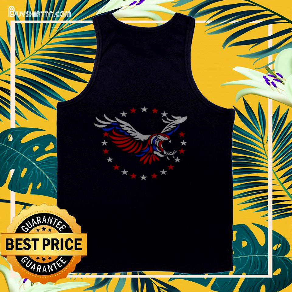 American flag eagle 4th of July tank top