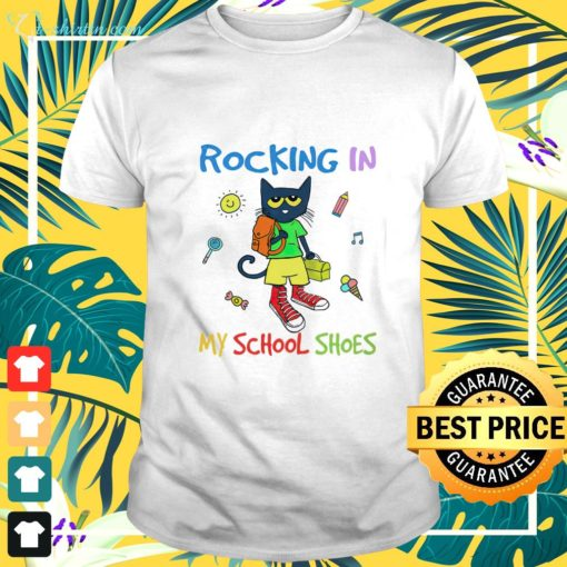 Cat Back to school rocking in my school shoes shirt