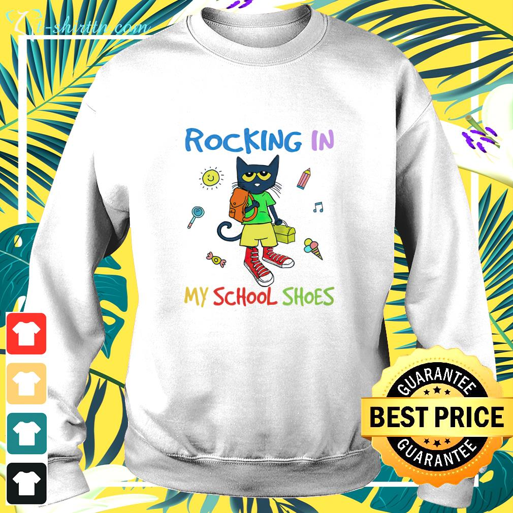 Cat Back to school rocking in my school shoes sweater