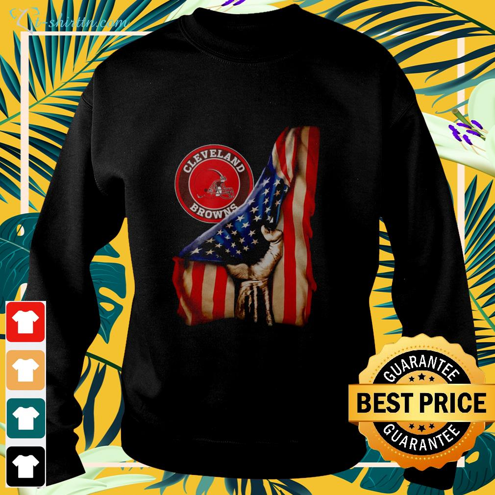 Cleveland Browns inside American flag sweater