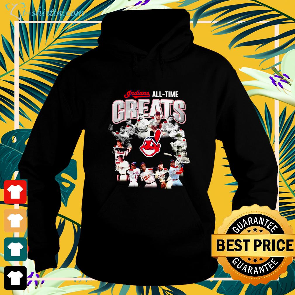 Cleveland Indians all time Greats signatures hoodie