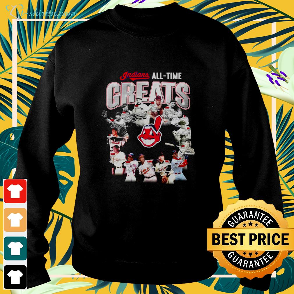 Cleveland Indians all time Greats signatures sweater