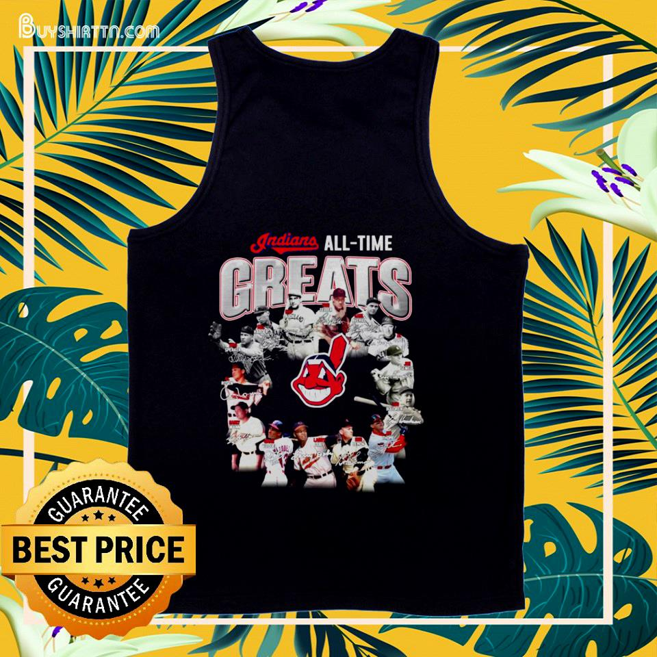 Cleveland Indians all time Greats signatures tank top