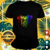 Colorful dripping heart Jeep shirt